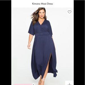 Eloquii Kimono Maxi Dress